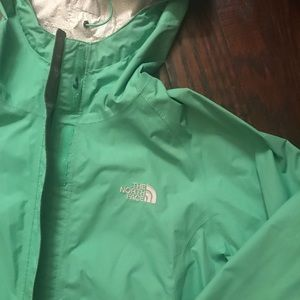 The North Face Jackets & Coats - Green North Face Raincoat